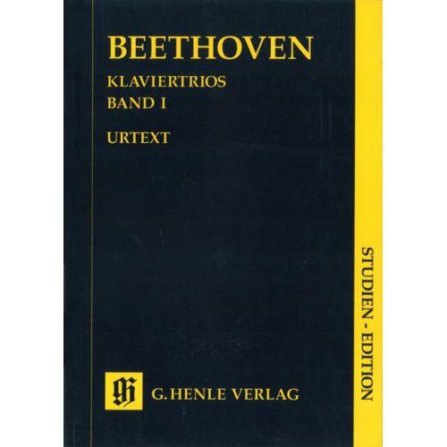 HENLE VERLAG BEETHOVEN L.V. - PIANO TRIOS, VOLUME I