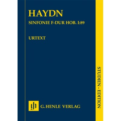 HENLE VERLAG HAYDN J. - SINFONIE F-DUR HOB. I:89 - SCORE