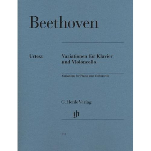 HENLE VERLAG BEETHOVEN L.V. - VARIATIONS FOR PIANO AND VIOLONCELLO