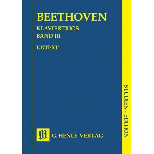 HENLE VERLAG BEETHOVEN L.V. - PIANO TRIOS, VOLUME III