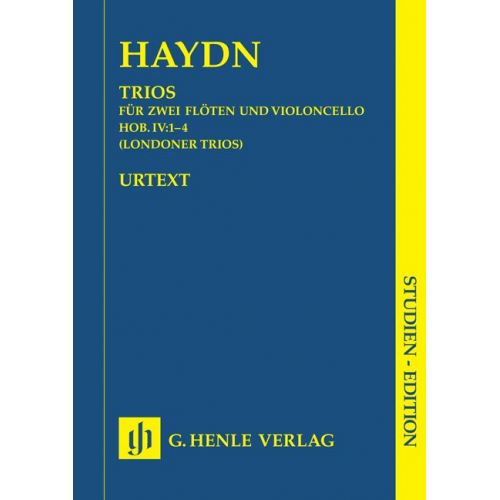 HENLE VERLAG HAYDN J. - TRIOS FOR TWO FLUTES AND VIOLONCELLO HOB. IV:1-4 (LONDON TRIOS)