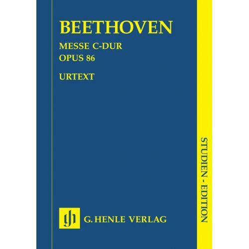 HENLE VERLAG BEETHOVEN L.V. - MISSA C MAJOR OP. 86