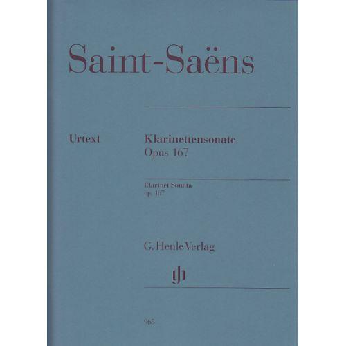 HENLE VERLAG SAINT-SAËNS CAMILLE - KLARINETTENSONATE OP.167