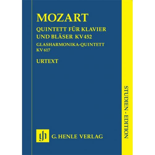HENLE VERLAG MOZART W.A. - QUINTET K. 452 FOR PIANO AND WIND INSTRUMENTS AND HARMONICA QUINTET K. 617