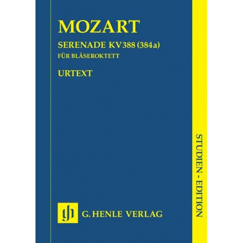 HENLE VERLAG MOZART W.A. - SERENADE C MINOR K. 388 (384A) FOR TWO OBOES, TWO CLARINETS (BB), TWO HORNS AND TWO BA