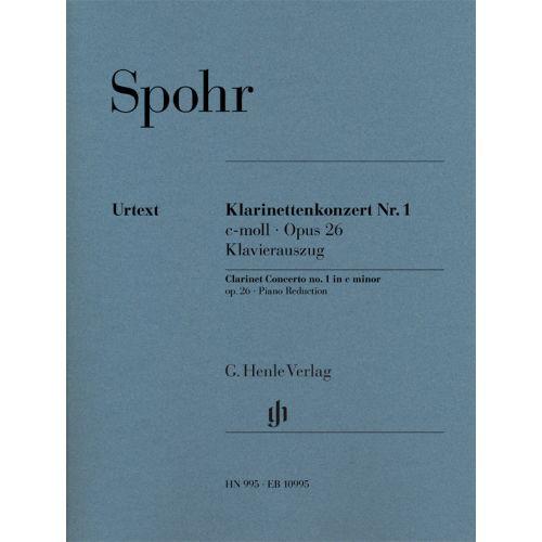 HENLE VERLAG SPOHR L. - CONCERTO N° OP.26 - CLARINETTE ET PIANO