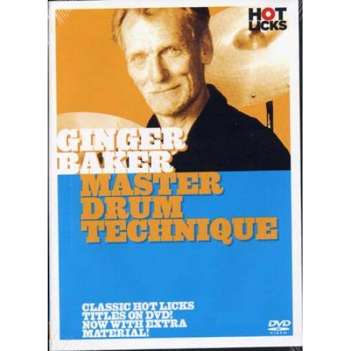 MUSIC SALES BAKER GINGER - MASTER DRUM TECHNIQUE