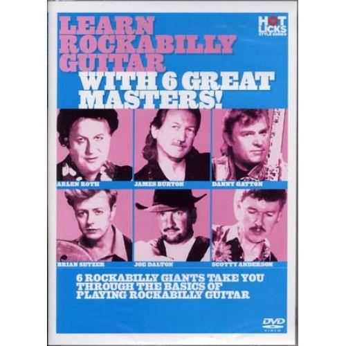 MUSIC SALES LEARN ROCKABILLY GUITAR W/ 6 GREAT MASTERS