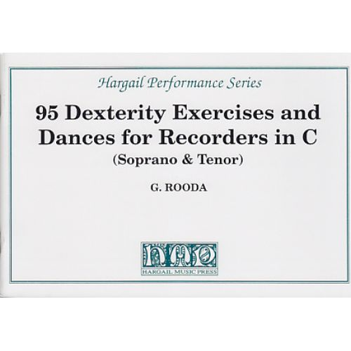 HARGAIL MUSIC PRESS ROODA 95 DEXTERITY EXERCISES AND DANCES FOR RECORDERS IN C
