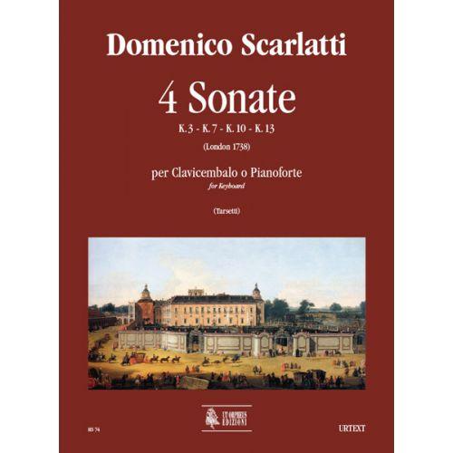 UT ORPHEUS SCARLATTI DOMENICO - 4 SONATAS (K. 3, 7, 10, 13) - KEYBOARD