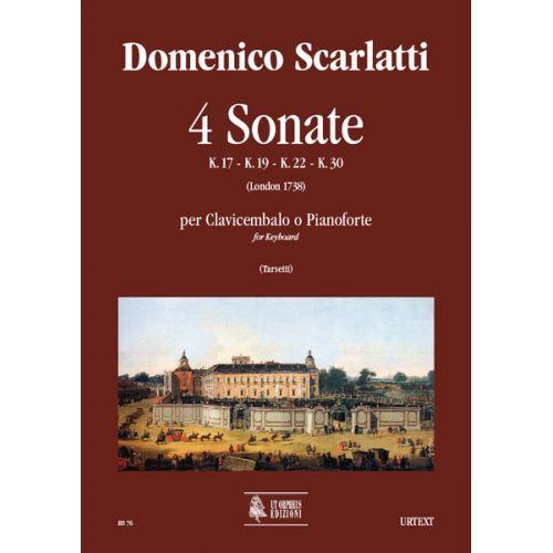UT ORPHEUS SCARLATTI DOMENICO - 4 SONATAS (K. 17, 19, 22, 30) - KEYBOARD