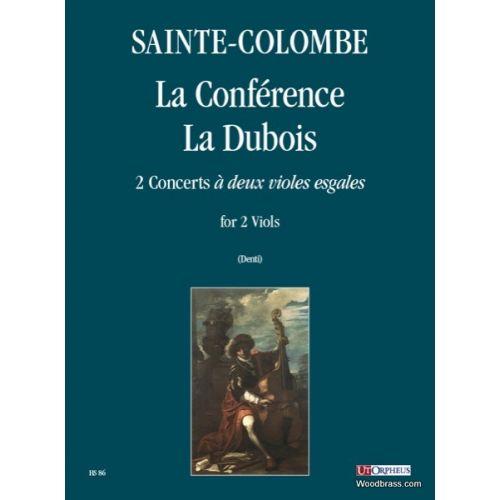UT ORPHEUS SAINTE-COLOMBE - LA CONFERENCE, LA DUBOIS, 2 CONCERTS «A DEUX VIOLES ESGALES» - 2 VIOLS