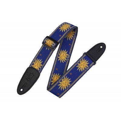 LEVY'S 5 CM POLYPROPYLENE & LEATHER WITH BLUE SUN PATTERNS
