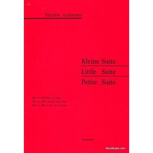 HARMONIA ANDRIESSEN H. - KLEINE SUITE - FLUTE A BEC ALTO ET PIANO