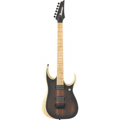 IBANEZ IRON LABEL RGDIX6MRW-CBF CHARCOAL BROWN BURST FLAT