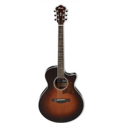 Ibanez Ae205bs Brown Sunburst Acoustic Electric Guitars Guitare électro-acoustique