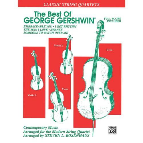 ALFRED PUBLISHING GERSHWIN GEORGE - BEST OF - STRING QUARTET