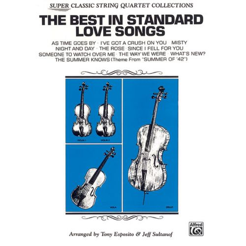 ALFRED PUBLISHING BEST IN STANDARD LOVE - STRING QUARTET (EASY)