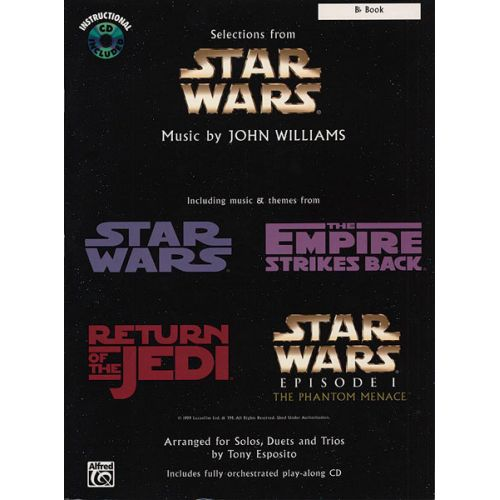 ALFRED PUBLISHING WILLIAMS JOHN - STAR WARS SELECTIONS + CD - Bb INSTRUMENTS AND PIANO