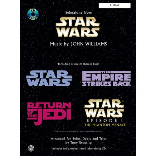 ALFRED PUBLISHING WILLIAMS JOHN - STAR WARS SELECTIONS + CD - Eb INSTRUMENTS