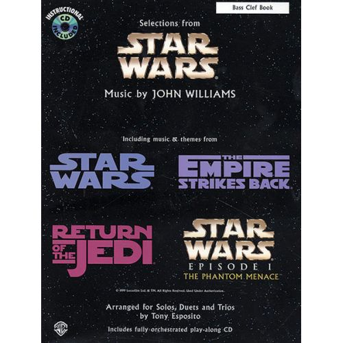 ALFRED PUBLISHING WILLIAMS JOHN - STAR WARS SELECTIONS + CD - C INSTRUMENTS WITH PIANO