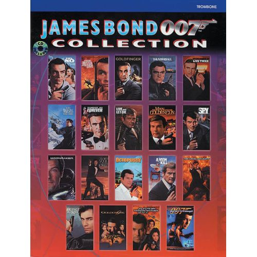 ALFRED PUBLISHING BARRY JOHN - JAMES BOND 007 COLLECTION + CD - TROMBONE AND PIANO