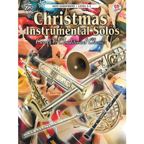 ALFRED PUBLISHING CHRISTMAS SOLOS CAROLS - SAXOPHONE AND PIANO