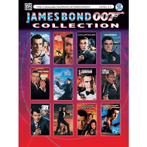 ALFRED PUBLISHING BARRY JOHN - JAMES BOND COLLECTION - VIOLA AND PIANO
