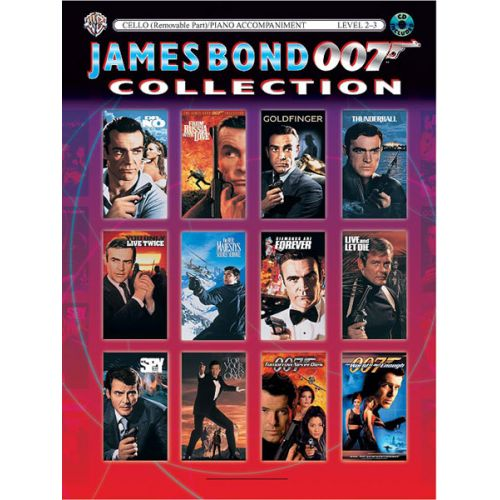 ALFRED PUBLISHING BARRY JOHN - JAMES BOND COLLECTION + CD - CELLO AND PIANO