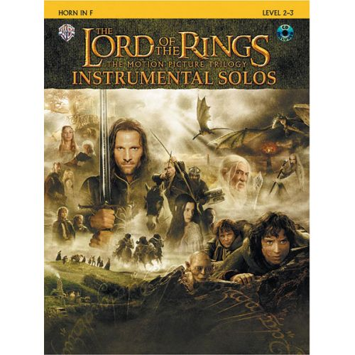 ALFRED PUBLISHING SHORE HOWARD - LORD OF THE RINGS + CD - FRENCH HORN AND PIANO