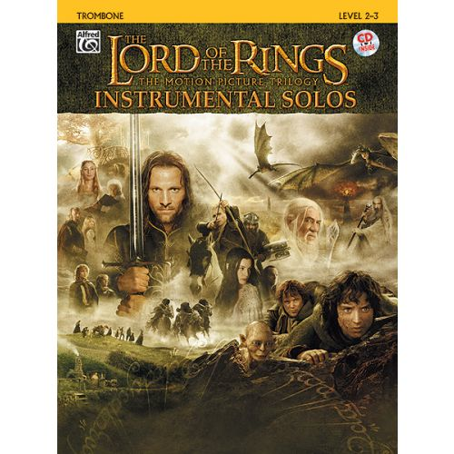 ALFRED PUBLISHING SHORE HOWARD - LORD OF THE RINGS + CD - TROMBONE AND PIANO