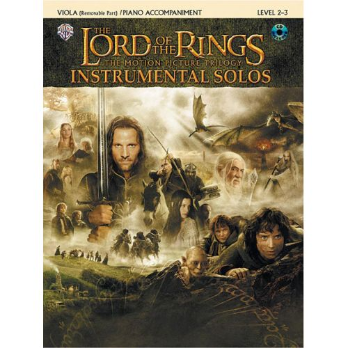 ALFRED PUBLISHING SHORE HOWARD - LORD OF THE RINGS + CD - VIOLA AND PIANO