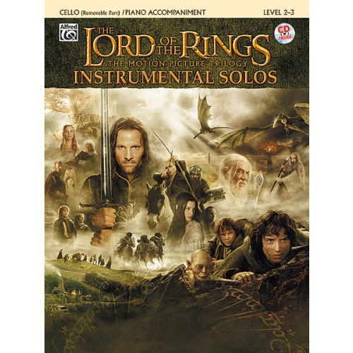 ALFRED PUBLISHING SHORE HOWARD - LORD OF THE RINGS + CD - CELLO AND PIANO