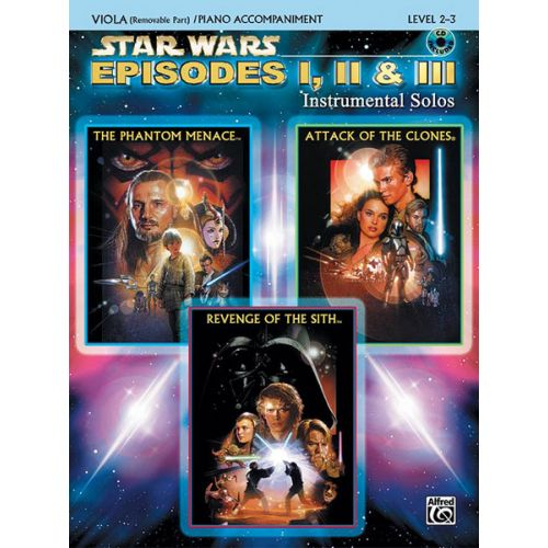 ALFRED PUBLISHING WILLIAMS JOHN - STAR WARS EPISODES I-III + CD - VIOLA SOLO