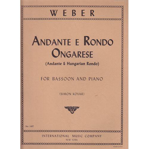 IMC WEBER CARL MARIA VON - ANDANTE E RONDO ONGARESE