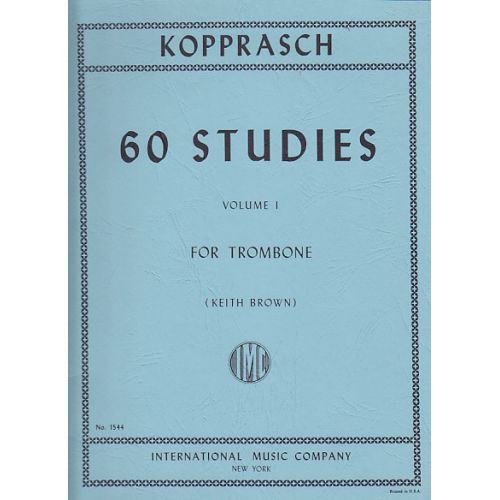 IMC KOPPRASCH C. - 60 STUDIES VOL.1 FOR TROMBONE