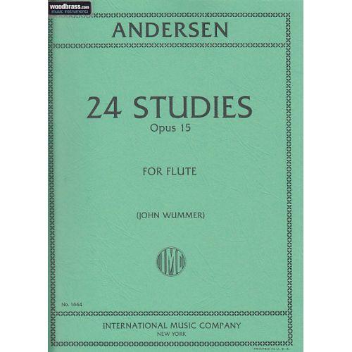 IMC ANDERSEN J. - 24 ETUDES OP.15 - FLUTE