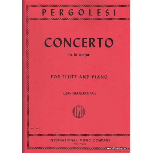IMC PERGOLESE - CONCERTO IN G MAJOR - FLUTE & PIANO