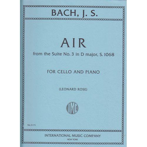 IMC BACH J. S. - AIR DE LA SUITE N°3 EN RE MAJEUR - VIOLONCELLE ET PIANO