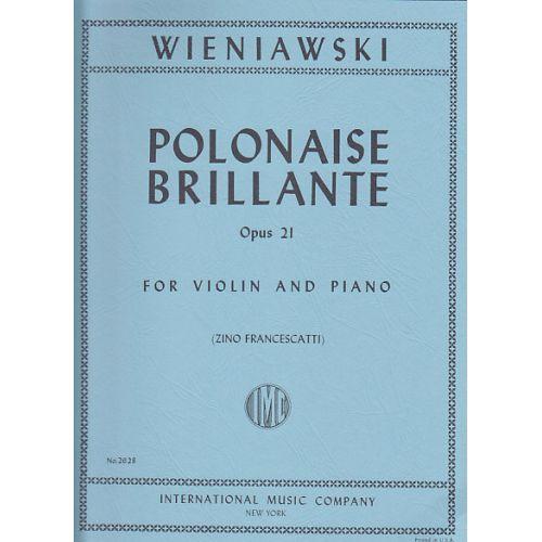 IMC WIENIAWSKI - POLONAISE BRILLANTE OP.21 (VIOLON / PIANO)