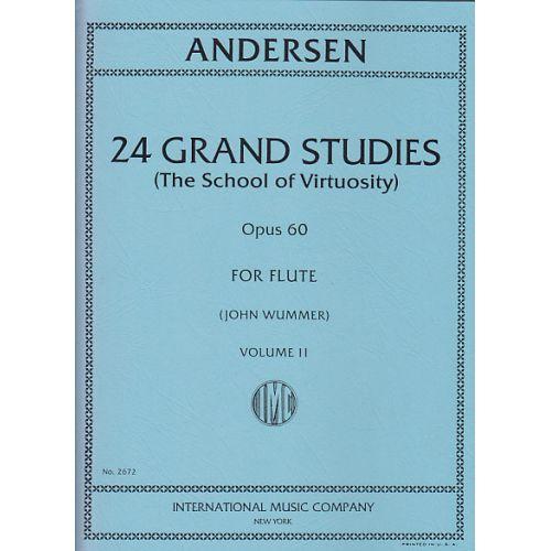 IMC ANDERSEN - 24 GRAND STUDIES OP.60 FOR FLUTE VOL.2 (JOHN WUMMER)