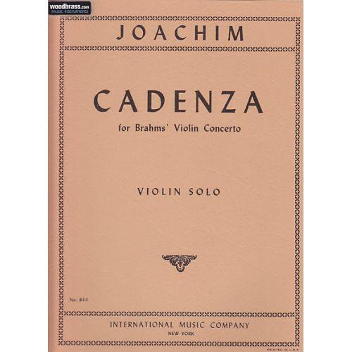IMC JOACHIM JOSEPH - CADENZA FOR BRAHMS' VIOLIN CONCERTO - VIOLIN SOLO
