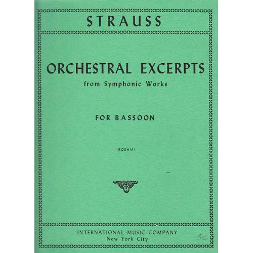 IMC STRAUSS RICHARD - ORCHESTRAL EXCERPTS