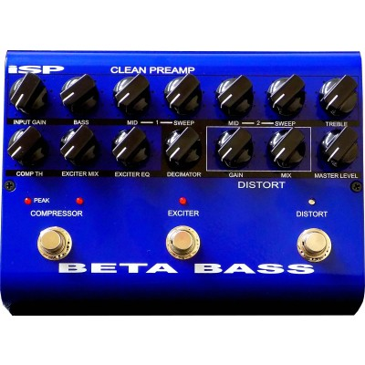 ISP BETA BASS PREAMP PEDAL PREAMP
