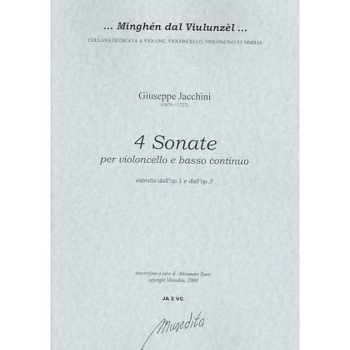 MUSEDITA JACCHINI GIUSEPPE MARIA - 4 SONATE - VIOLONCELLE