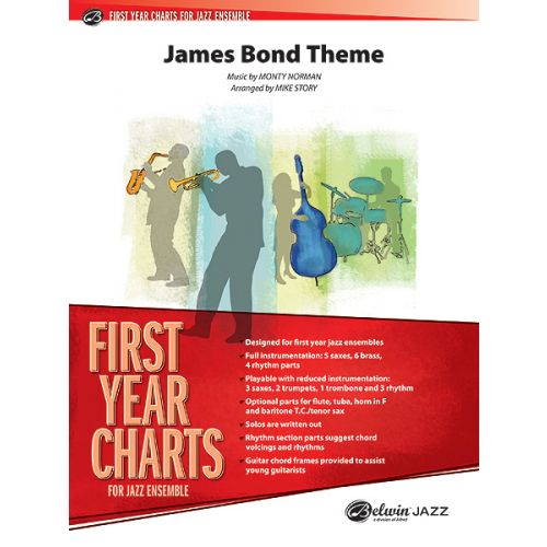 ALFRED PUBLISHING STORY MICHAEL - JAMES BOND THEME - JAZZ BAND