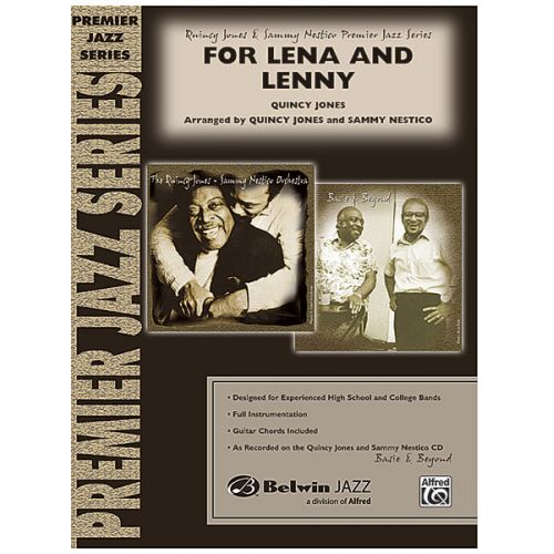 ALFRED PUBLISHING JONES Q - FOR LENA AND LENNY - JAZZ BAND