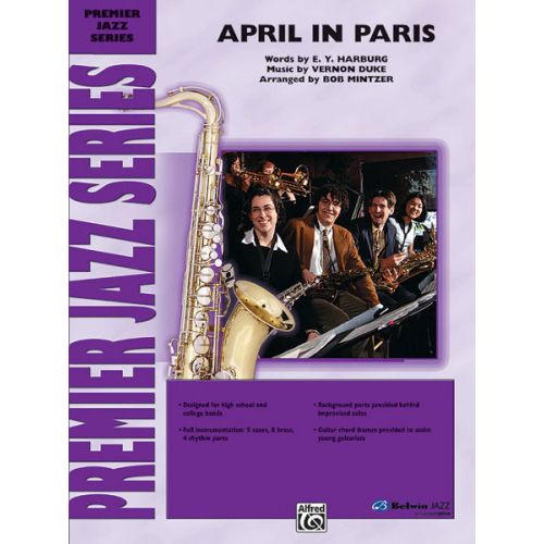 ALFRED PUBLISHING DUKE VERNON - APRIL IN PARIS - JAZZ BAND