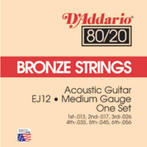 D'ADDARIO AND CO EJ 12 BRONZE 80/20MEDIUM 13 56