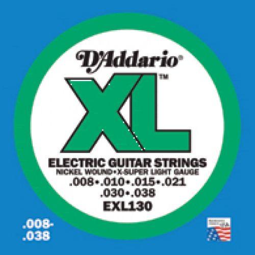 D'ADDARIO AND CO EXL 130 8 10 15 21 30 38